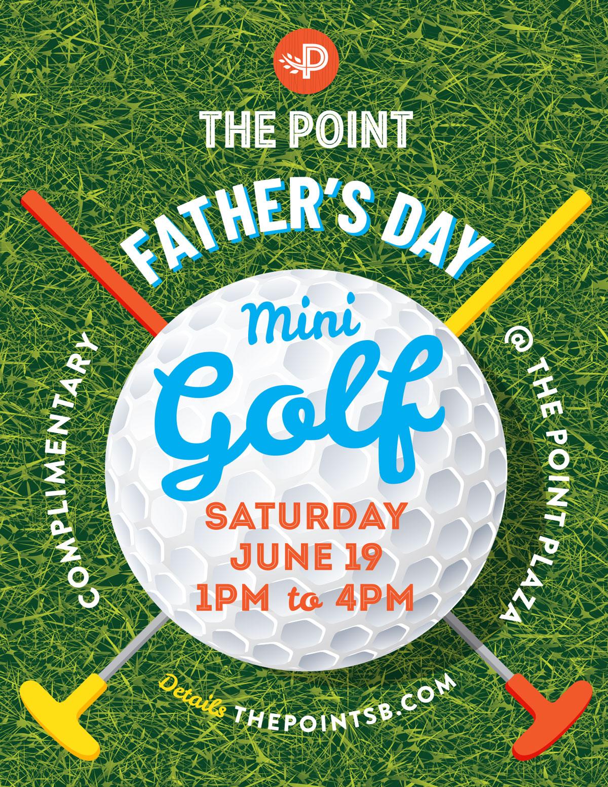 Father's Day Mini Golf event at The Point in El Segundo