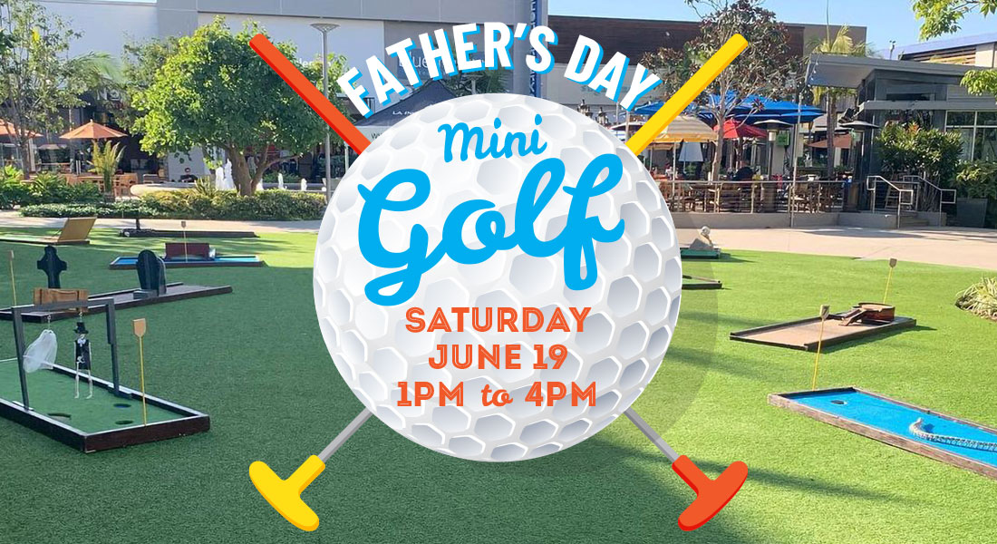 Father's Day mini golf event at the Point